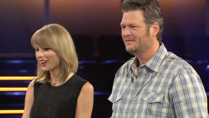 "Image: Taylor Swift and Blake Shelton on ""The Voice"""