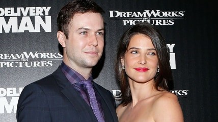 "NEW YORK, NY - NOVEMBER 17:  Comedian/actor Taran Killam and actress Cobie Smulders attend the screening of ""Delivery Man"" hosted by DreamWorks Pictur..."