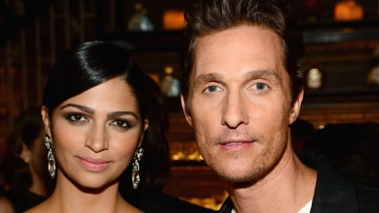 Image: Matthew McConaughey and wife Camila Alves