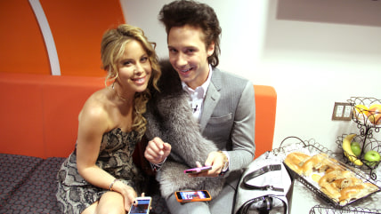Johnny Weir and Tara Lipinski take over TODAY's Instagram and Twitter accounts.