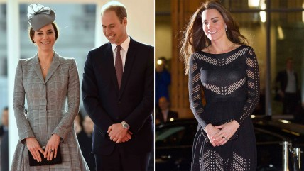 Image: Duchess Kate debuts her baby bump fashions