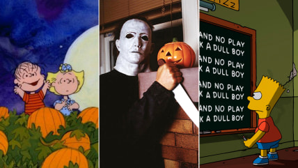 "Image: ""It's the Great Pumpkin, Charlie Brown,"" ""Halloween"" and ""The Simpsons"""