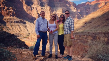 Brittany Maynard, second from right, at the Grand Canyon with her husband and parents