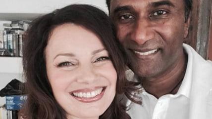 Image: Fran Drescher and husband Shiva Ayyadurai