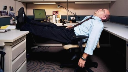 Image: worker sleeping