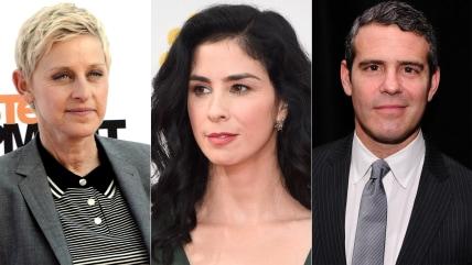 Image: Ellen DeGeneres, Sarah Silverman, Andy Cohen