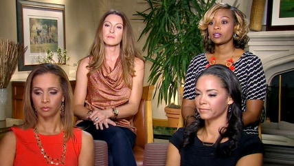 The wives of four former NFL players spoke with TODAY's Jenna Wolfe about the situation involving Ray Rice and his wife and what they feel is a misperception about the lives of NFL families.