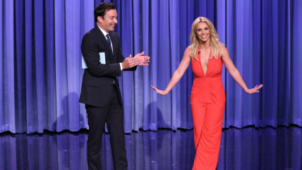 Image: Jimmy Fallon and Britney Spears