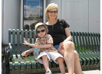Kate Snow and her son Zack.