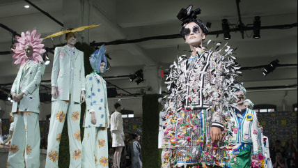 The Thom Browne Spring 2015 collection is modeled during Fashion Week, Monday, Sept. 8, 2014, in New York. (AP Photo/Joh