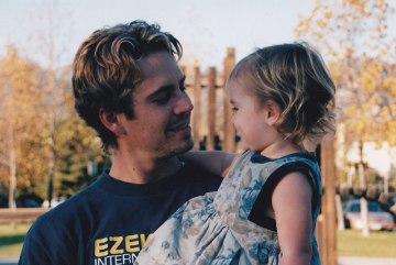 Meadow Walker with her father Paul Walker