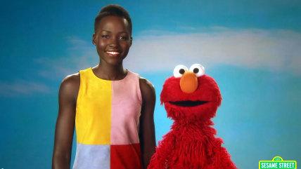 Image: Lupita Nyong'o and Elmo