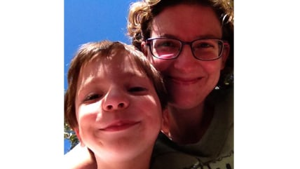 Kari Anne Roy and her 6-year-old son, whom she let play alone outdoors in a nearby park.