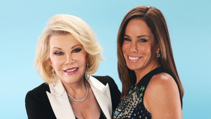 Joan and Melissa Rivers pose at the Do Something Awards in 2013.