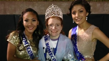 Image: Texas homecoming queen Lillian Skinner and friends