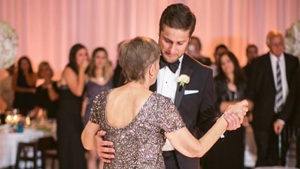Mary Ann Manning fulfilled her dying wish to dance with her son, Ryan, at his Sept. 5 wedding.