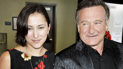 Zelda Williams and her father, the late actor Robin Williams, in 2009.