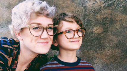 Harmony Smith and 8-year-old son Elliott