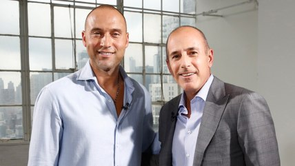 TODAY -- Pictured: (l-r) Derek Jeter, Matt Lauer -- (Photo by: Peter Kramer/NBC)