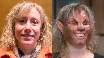 Image: Amy Hardy shows off her makeover.