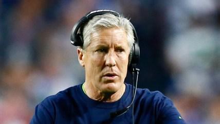Head coach Pete Carroll of the Seattle Seahawks.