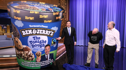 Image: Jimmy Fallon unveils his new Ben & Jerry's Flavor
