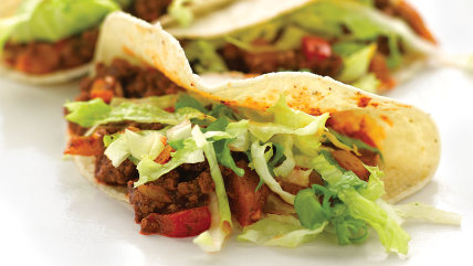 Lighter Beef Tacos from Everyday Food