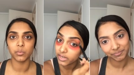 Would you put red lipstick on your eyes?