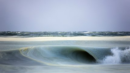 frozen waves in Nantucket