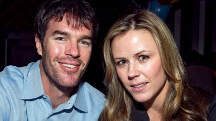 NEW YORK - FEBRUARY 12:  (EXCLUSIVE COVERAGE) Ryan Sutter and Trista Sutter attend Jenna Morasca's 30th birthday party at Jimmy at The James Hotel on ...