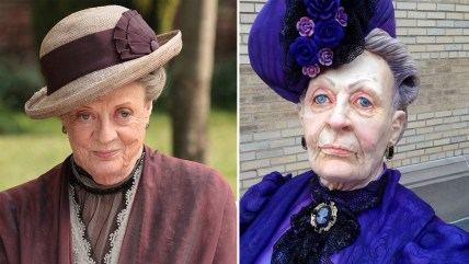 Maggie Smith and Dowager Countess cake