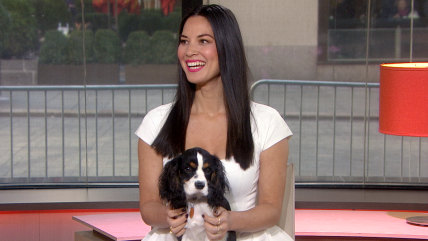 Image: Olivia Munn and her dog, Chance