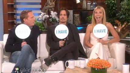 Paul Bettany, Johnny Depp and Gwyneth Paltrow