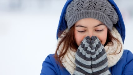 Portrait of a woman feeling cold in winter - outdoors; Shutterstock ID 70777708; PO: TODAY.com