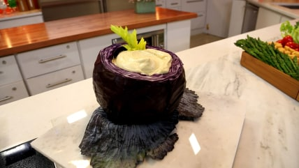 Cabbage bowl for dip