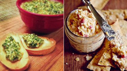 Dips from Edible magazines for the Super Bowl