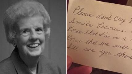 Billie Breland and her note