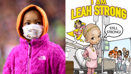 Nov 6, 2014; Cincinnati, OH, USA; Leah Still daughter of Cincinnati Bengals defensive tackle Devon Still (not pictured) during the first quarter again...