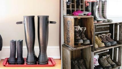 DIY boot organization