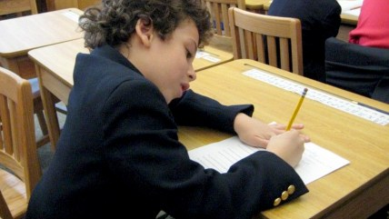 The author's son, Adam, has taken his share of standardized tests.