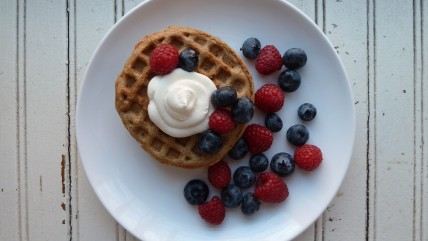 Waffles with Berries and Ricotta