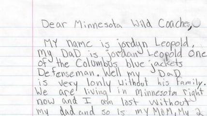 Jordan Leopold letter