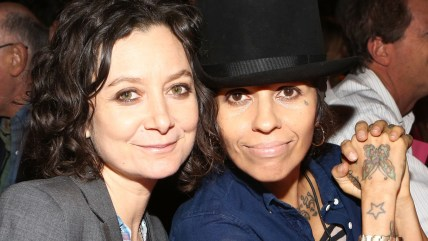 Sara Gilbert and Linda Perry.
