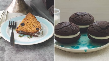 Chocolate zucchini cake and whoopie pies