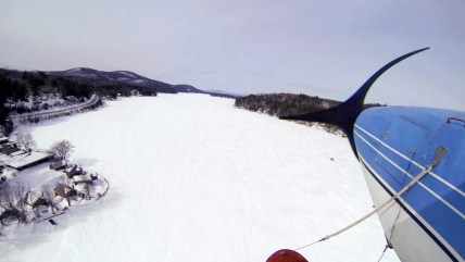 Small aircraft can land with no brakes on New Hampshire's Lake Winnipesaukee, the only ice runway in the continental U.S. approved by the FAA.