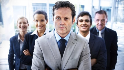 "To promote the new movie ""Unfinished Business,"" Vince Vaughn and other members of the cast posed for stock photos.