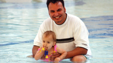 Richard Rampersaud and his daughter, now a teen, who has tested positive for Ehlers-Danlos syndrome.