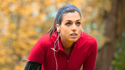 Tired female runner taking a break. Sporty woman breathing and resting on running training in autumn.; Shutterstock ID 211738069; PO: Hilary for Today