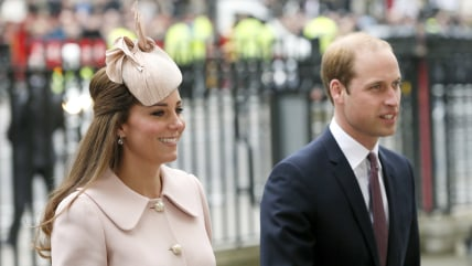 Britain's Prince William and his wife Catherine, Duchess of Cambridge, arrive for the Commonwealth Observance service at Westminster Abbey in London M...