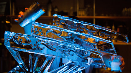 DaNet's ice sculpture